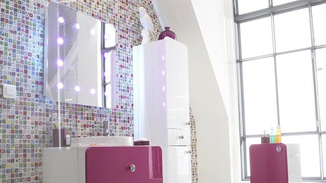 Mosaïque multicolore by Castorama, RoyaumeStyleDeco | Salle ...