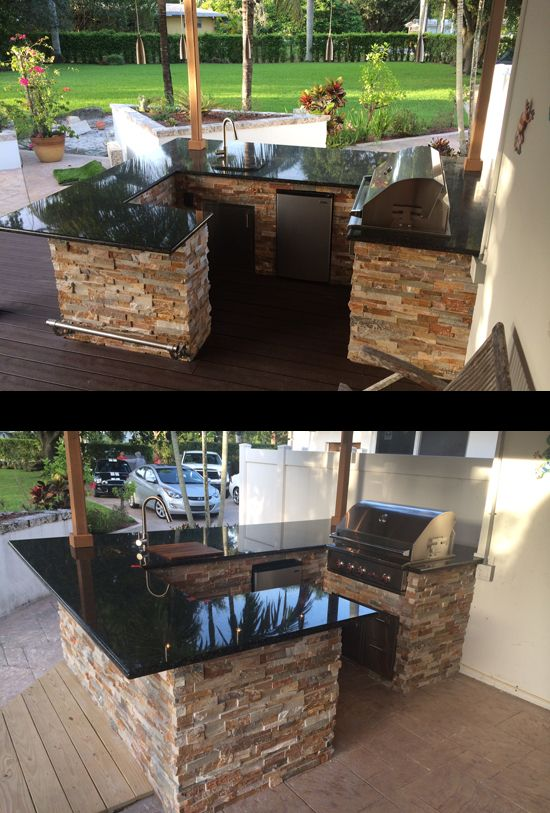 Custom Outdoor Kitchen And Twin Eagles Bar Wrap Around Gas