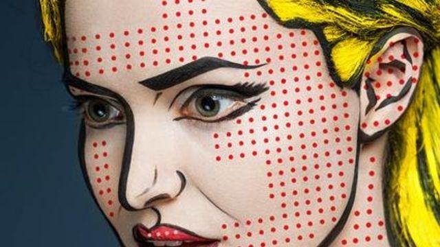 Der russische Make-up-Virtuose Waleria Kutsan verwandelt seine Modelle in kleine Kunstwerke.