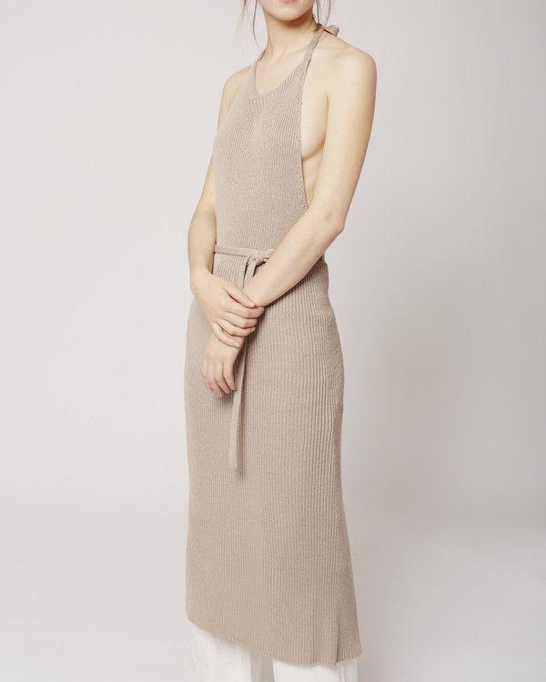 8101f7ecdeb Baserange Knit apron dress libra on