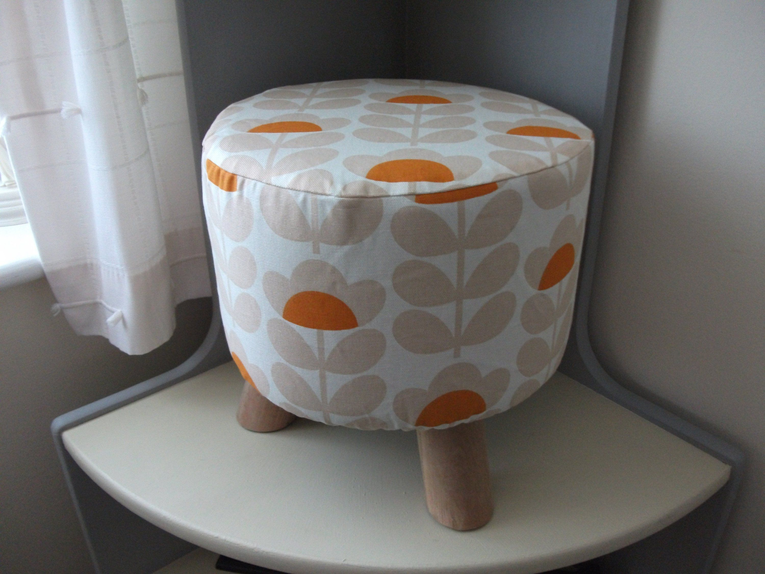Pleasing Footstool With Removable Cover Scandi Small Flower Orange Ocoug Best Dining Table And Chair Ideas Images Ocougorg
