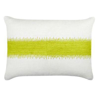 Piper Collection Caroline Cotton Lumbar Pillow Color Citrus