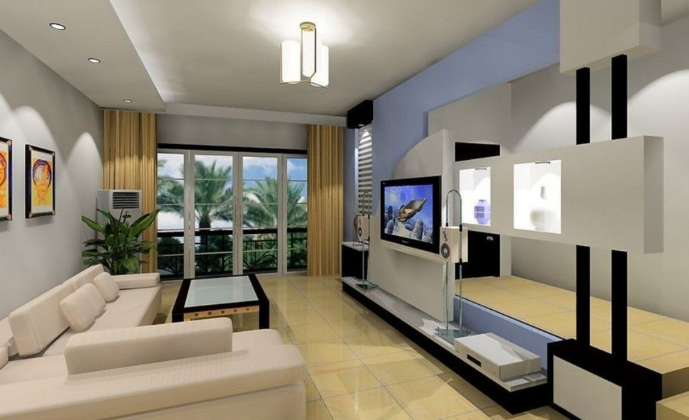Living Room Big Large Flat Screen Lcd Led Tv Television Speaker Sound System Home T Minimalist Living Room Design Rectangular Living Rooms Living Room Styles