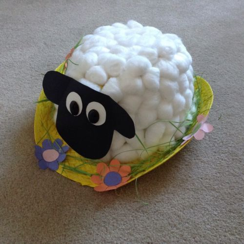 Spring Lamb Sheep Handmade Easter Bonnet Hat Boys Girls Easter Bonnets For Boys Easter Hat Parade Easter Bonnet Competition