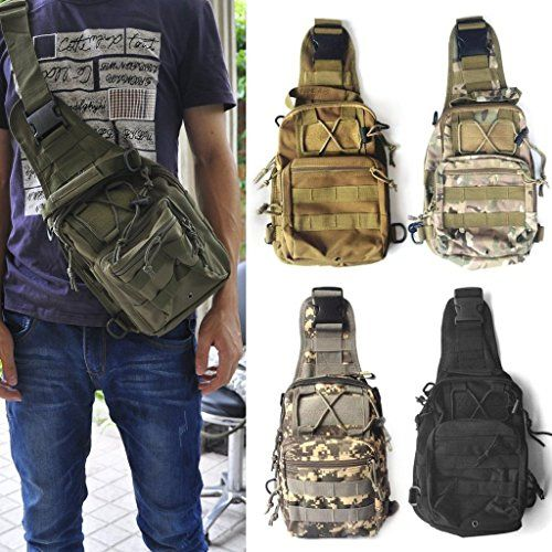 91cc738914f4 MinoCat Military Outdoor Tactical Shoulder Bags Chest Packs Sporting ...