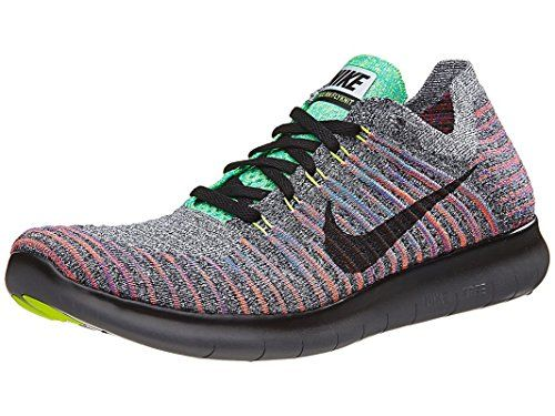 meet 7d2bf 260ac Nike Mens Free RN Flyknit Running Shoe WHITE BLACK-TOTAL CRIMSON-BLUE LAGOON