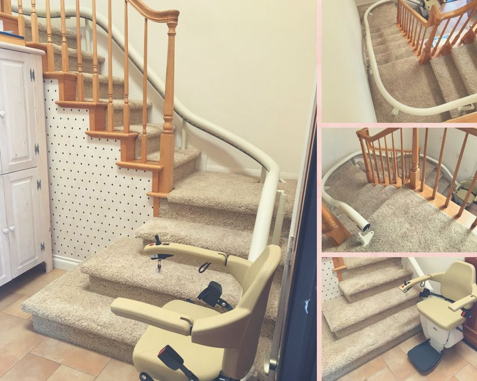Handicare stairlift in beautiful #Oceanside home ... on