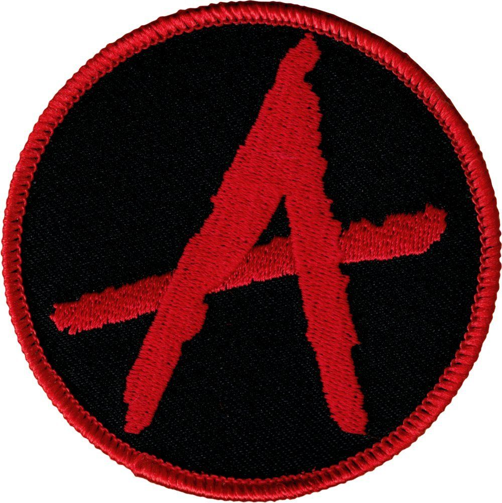 Amazon Com Single Count Custom And Unique 3 Inches Round Anarchy Symbol Iron On Embroidered Applique Patch R Applique Patch Embroidered Patches Applique
