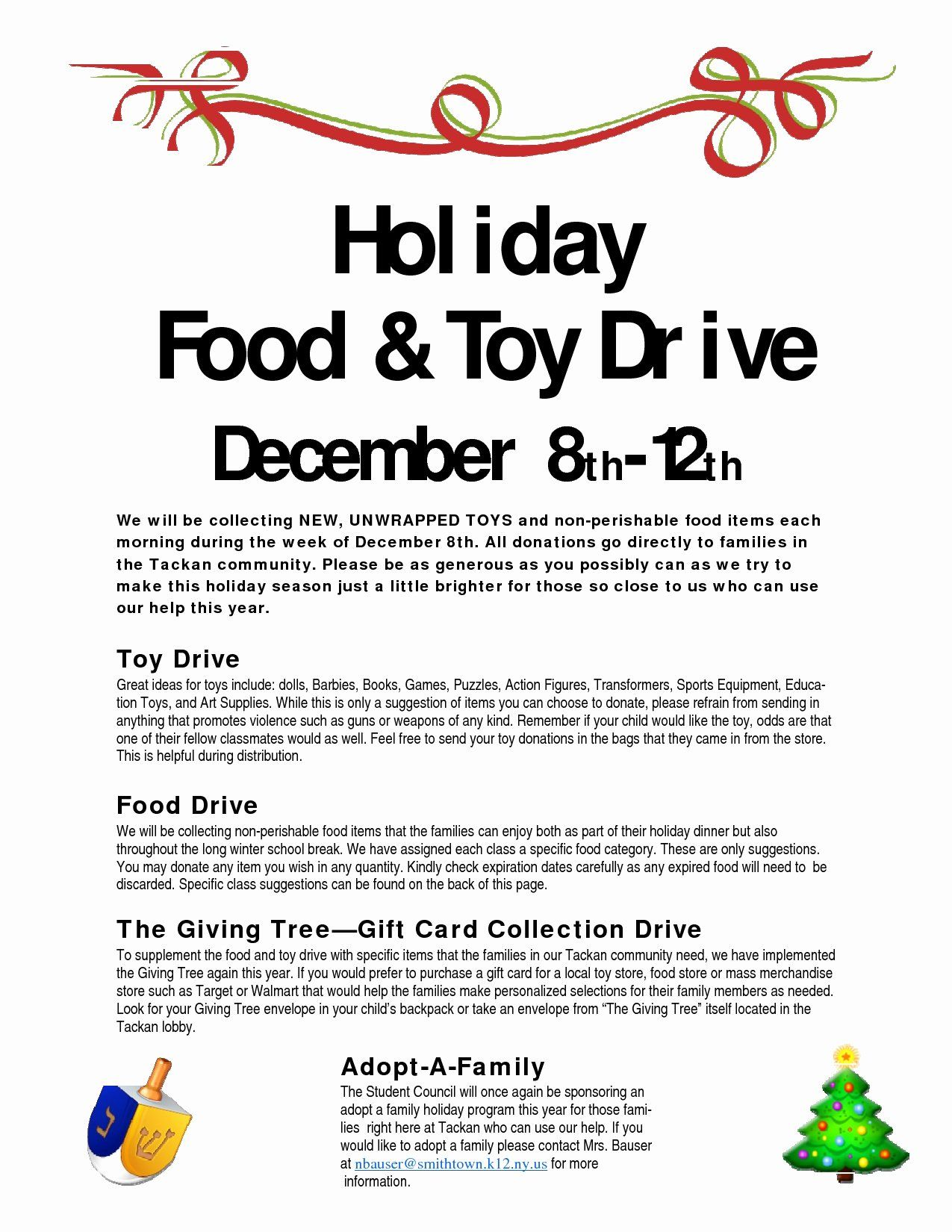 Can Food Drive Flyer Template  Canned Food Drive Flyer