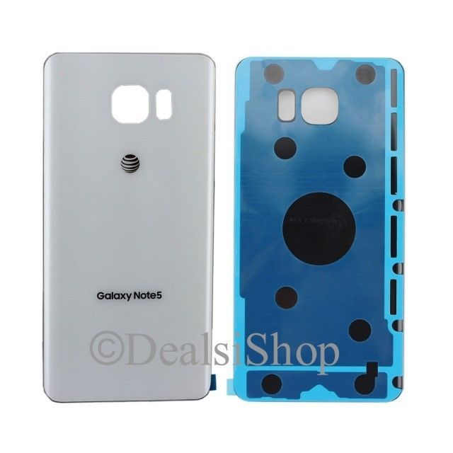 Glass Battery Rear Door W Adhesive For Samsung Galaxy Note 5 At T N920a White Note 5 Galaxy Note 5 Samsung Galaxy Note