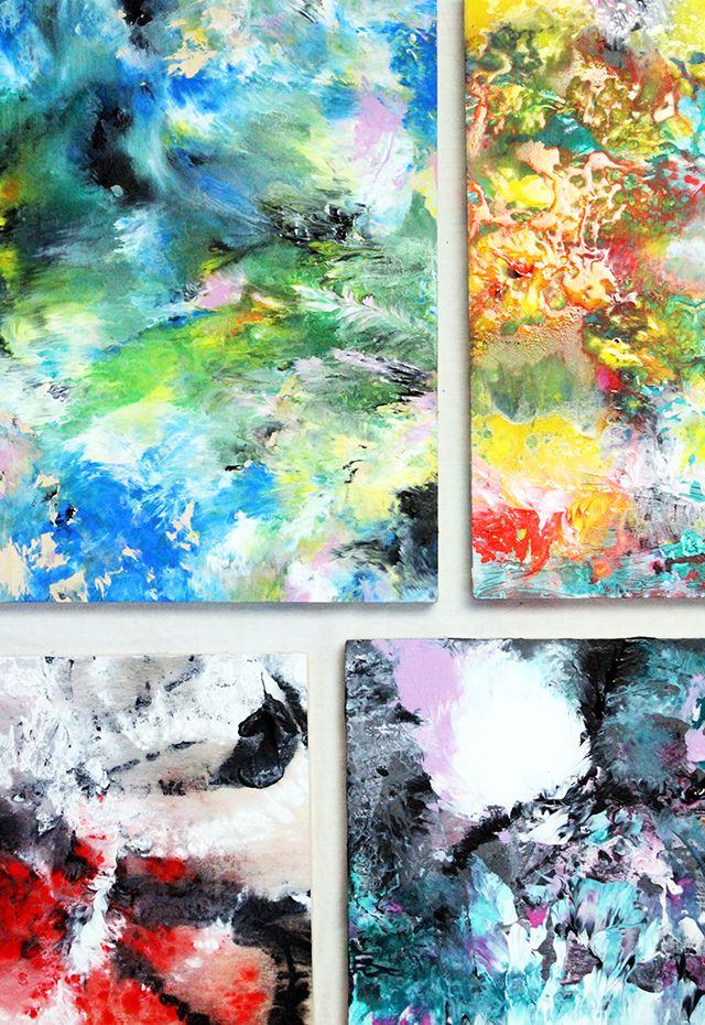 Alisaburke Marbled Acrylic Painting Art Acrylic