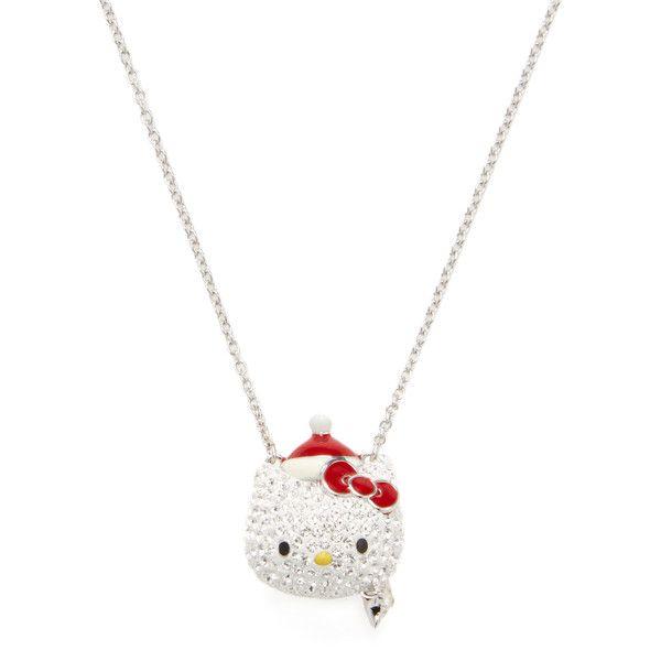 652688c24 Swarovski Women's Hello Kitty Santa Necklace (60 JOD) ❤ liked on Polyvore  featuring jewelry, necklaces, no color, swarovski jewelry, hello kitty  jewelry, ...