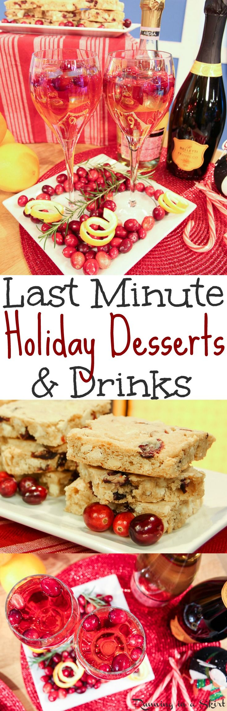 Last Minute Christmas Desserts & Drinks recipes for the holidays. Budget friendly, fast, simple and