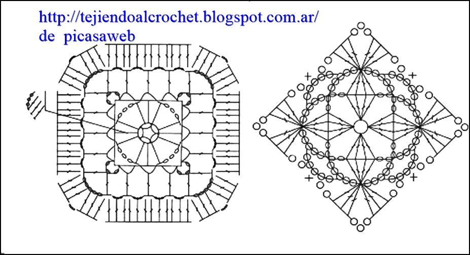 PATRONES - CROCHET - GANCHILLO - GRAFICOS   Crochet Blocks ...