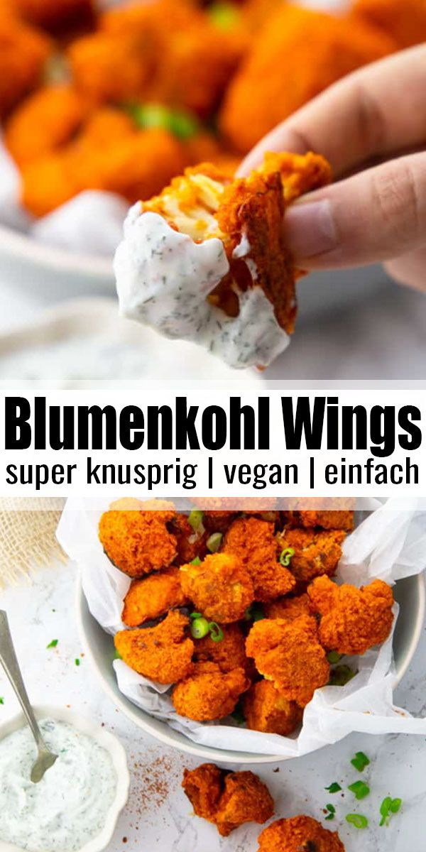 "Photo of Blumenkohl ""Wings"" mit Buffalo Sauce"