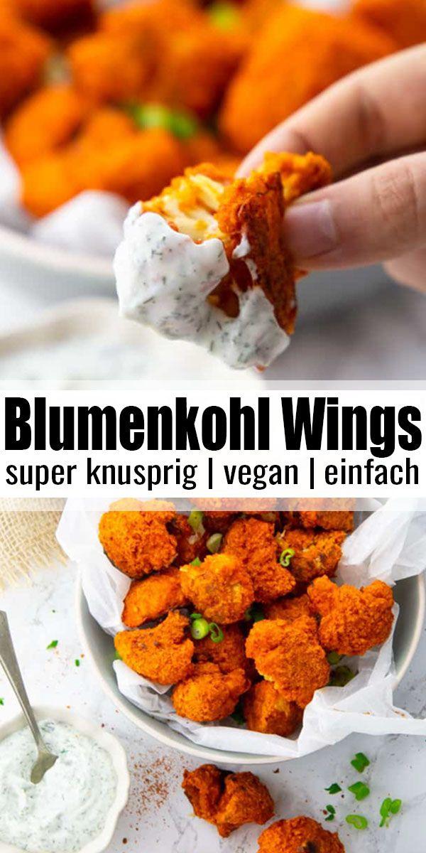 Blumenkohl Wings mit Buffalo Sauce