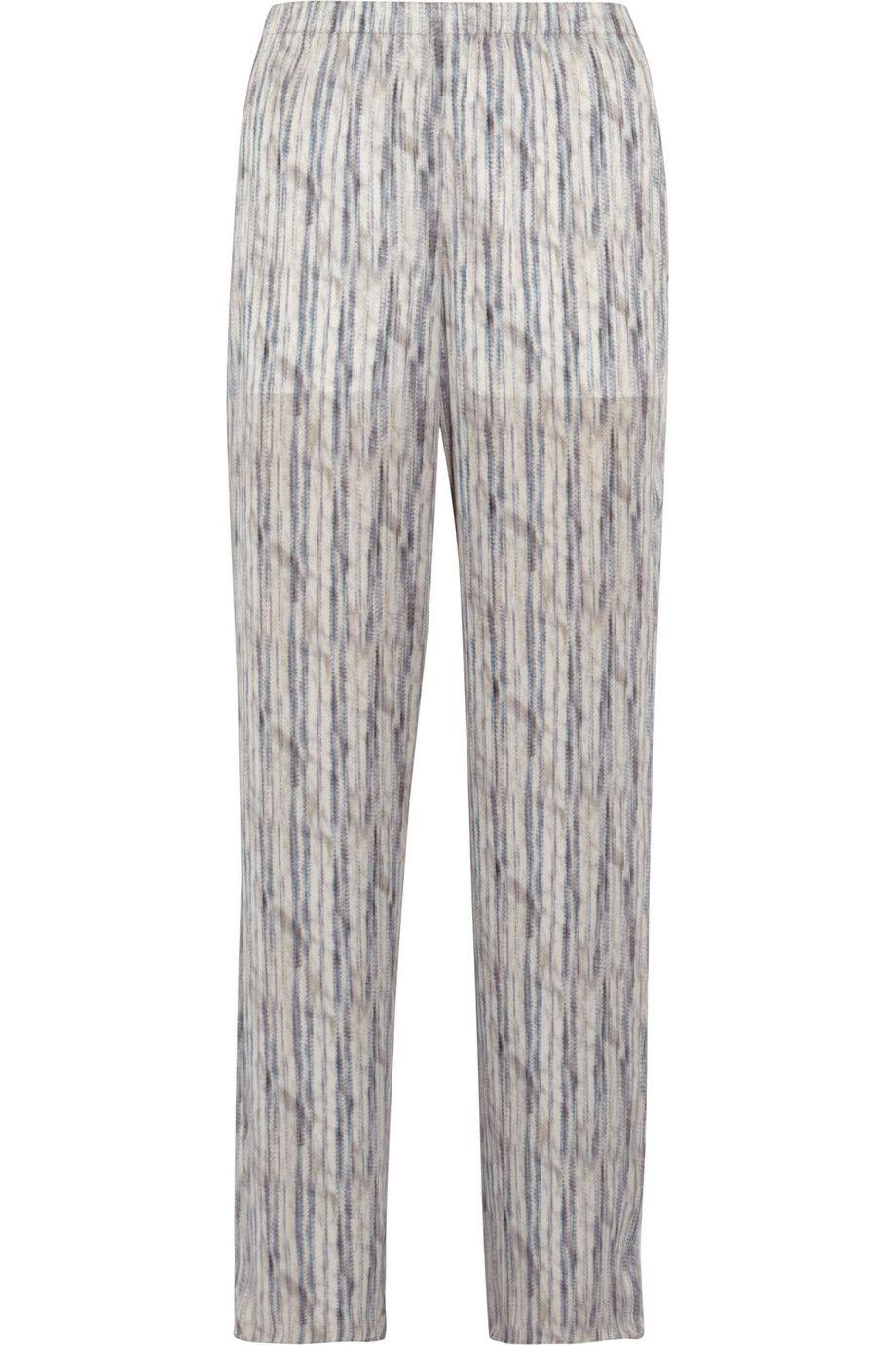 Theyskens' Theory|Printed silk wide-leg pants|NET-A-PORTER.COM