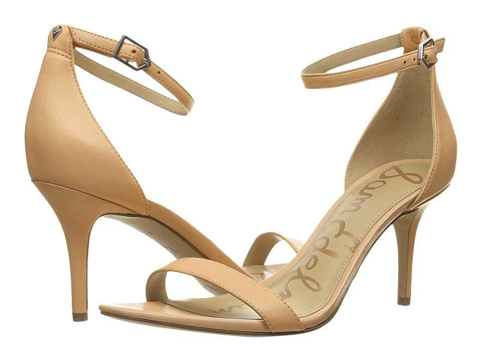 a462e3ed046 Sam Edelman Patti Strappy Sandal Heel (Classic Nude Leather) High Heels.  The Sam