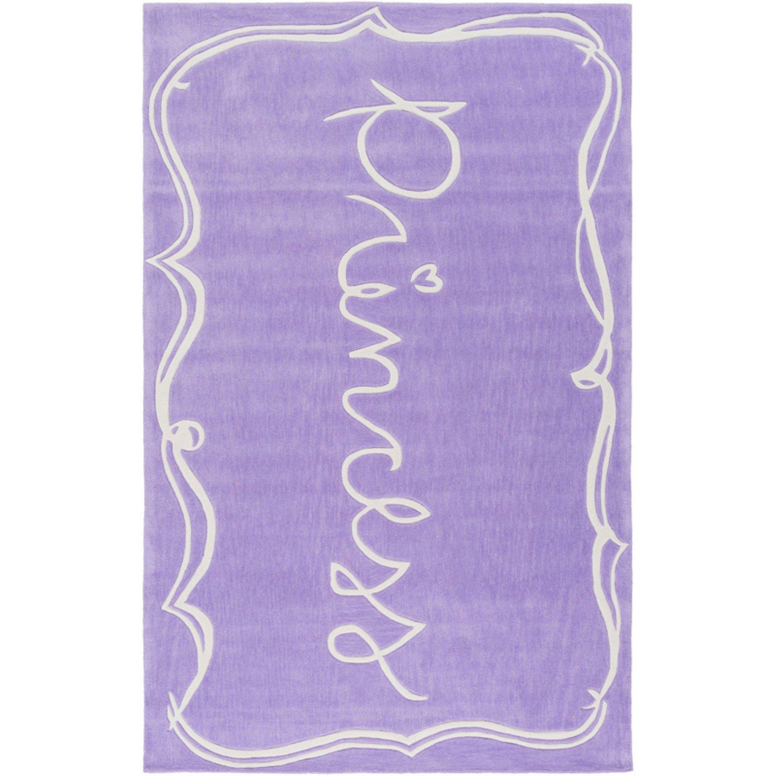 Surya Skidaddle Rectangle Indoor Area Rug Purple Kids Area Rugs
