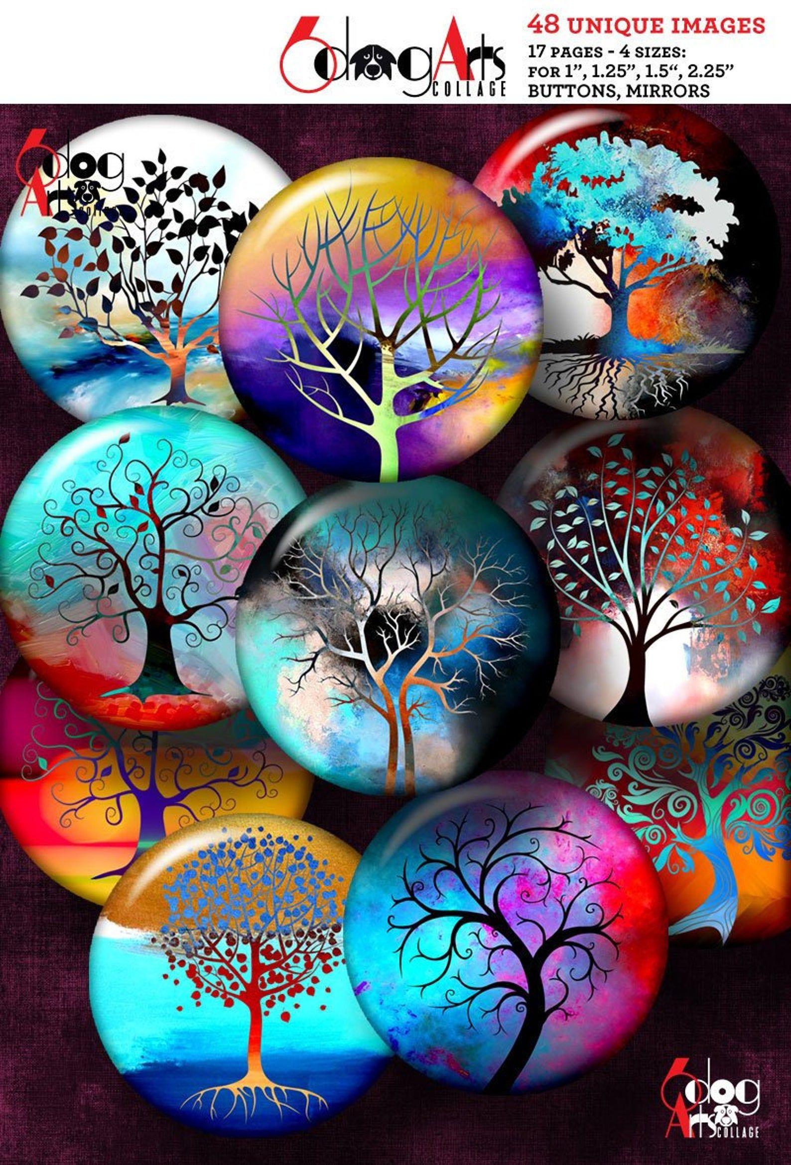 Tree of Life Digital Collage Sheets Printable 2.62