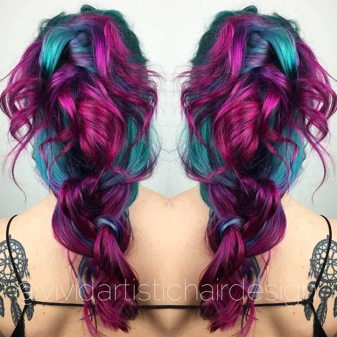 20 Unboring Styles With Magenta Hair Color Teal Hair Color Teal Hair And Hair Coloring