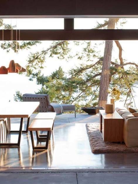 Mid Century Modern Beach House Retreat On Pender Island Home
