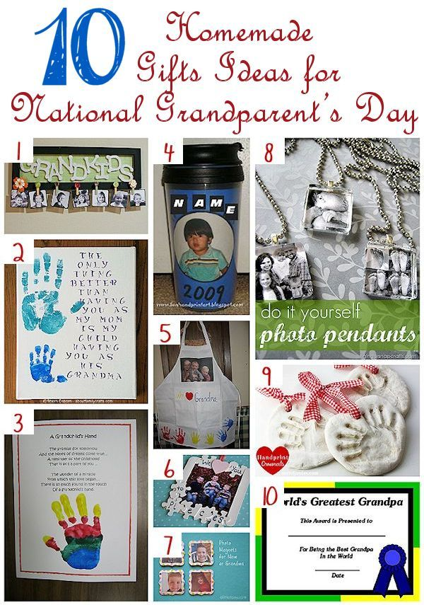 10 Homemade Gifts for National Grandparent\'s Day | Crafting | Pinterest
