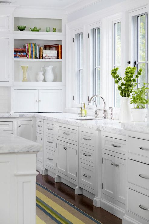 DeGraw and DeHaan Architects - kitchens - white cabinets, white kitchen cabinets, bianca gioia, bianca gioia marble, bianca gioia marble cou...