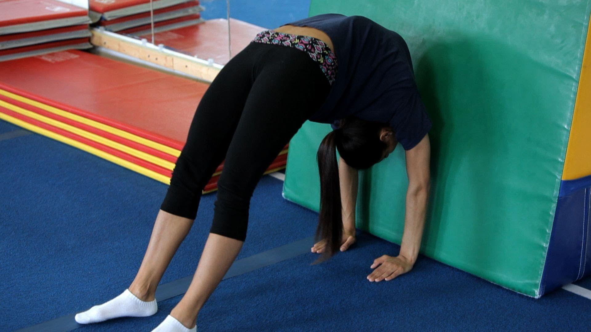 Back walkover drills gymnastics lessons recreational
