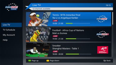 Eurosport launches app on Panasonic TVs Panasonic tvs