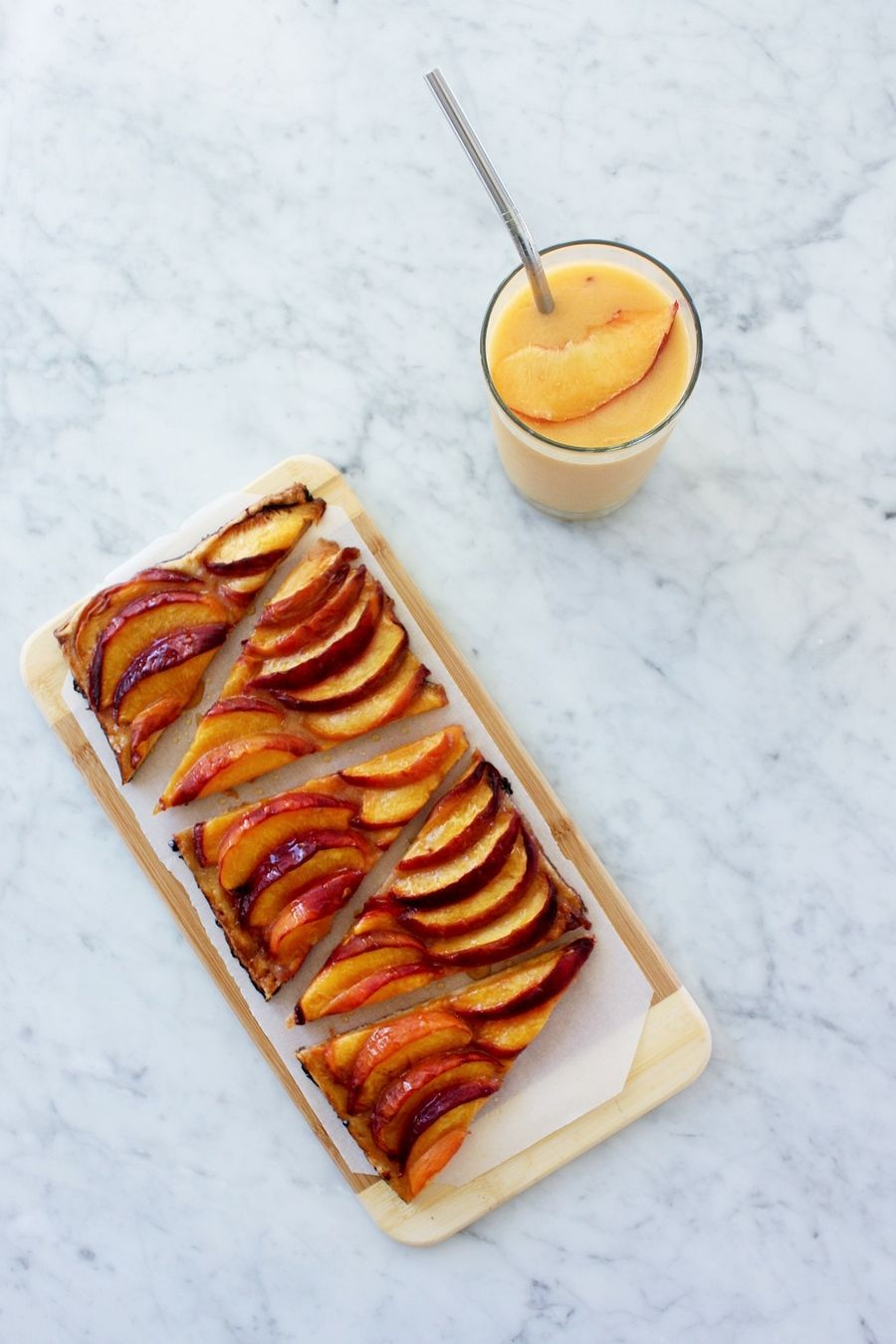 RECIPE - THIN PEACH TART
