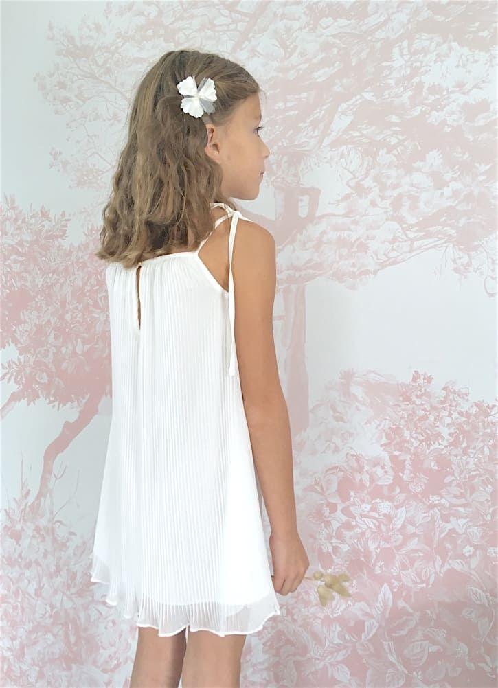 Salopette en coton blanc pour enfant | Salopette blanche