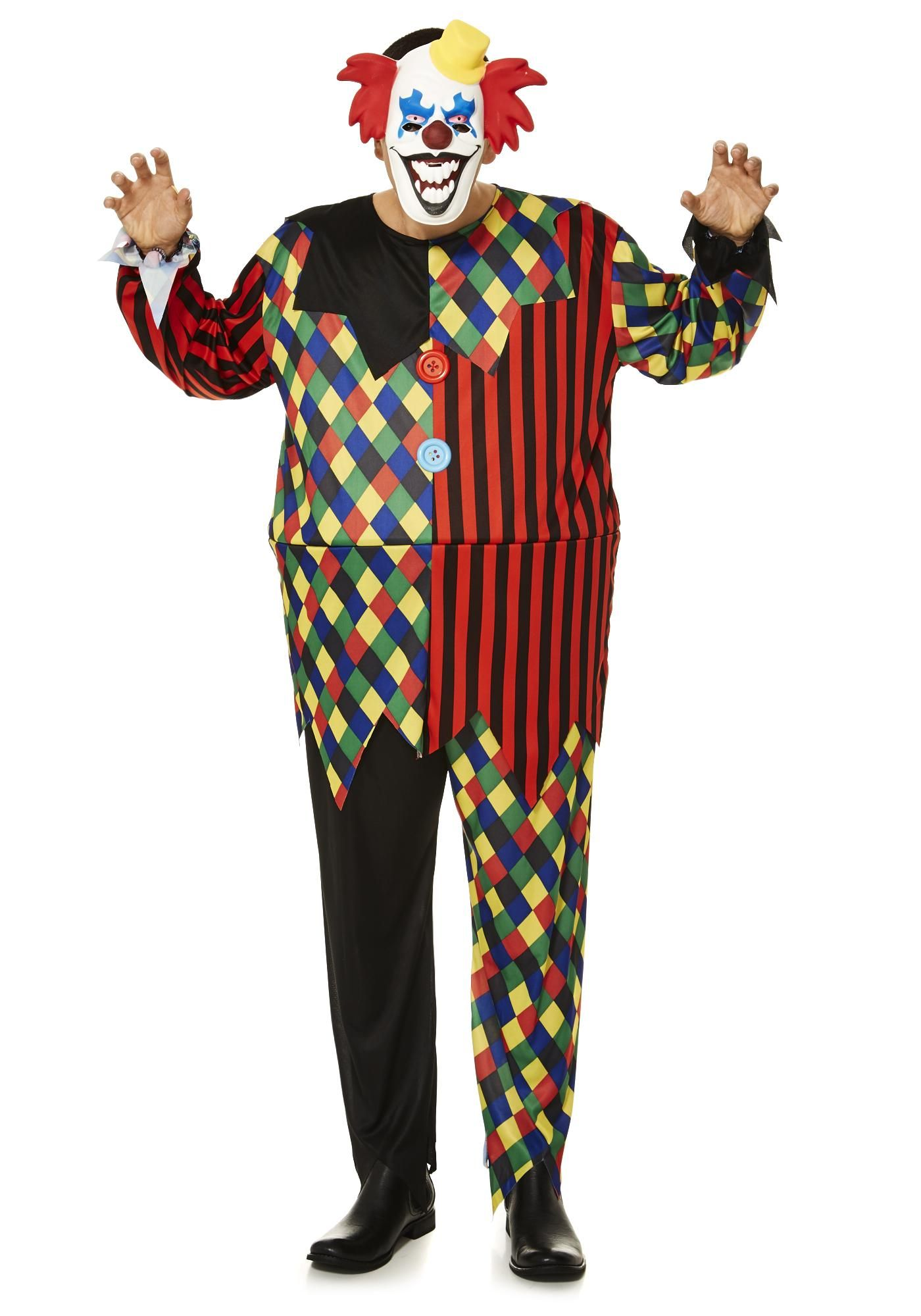Tesco F&F Halloween Clown DressUp Costume €1622 Clown