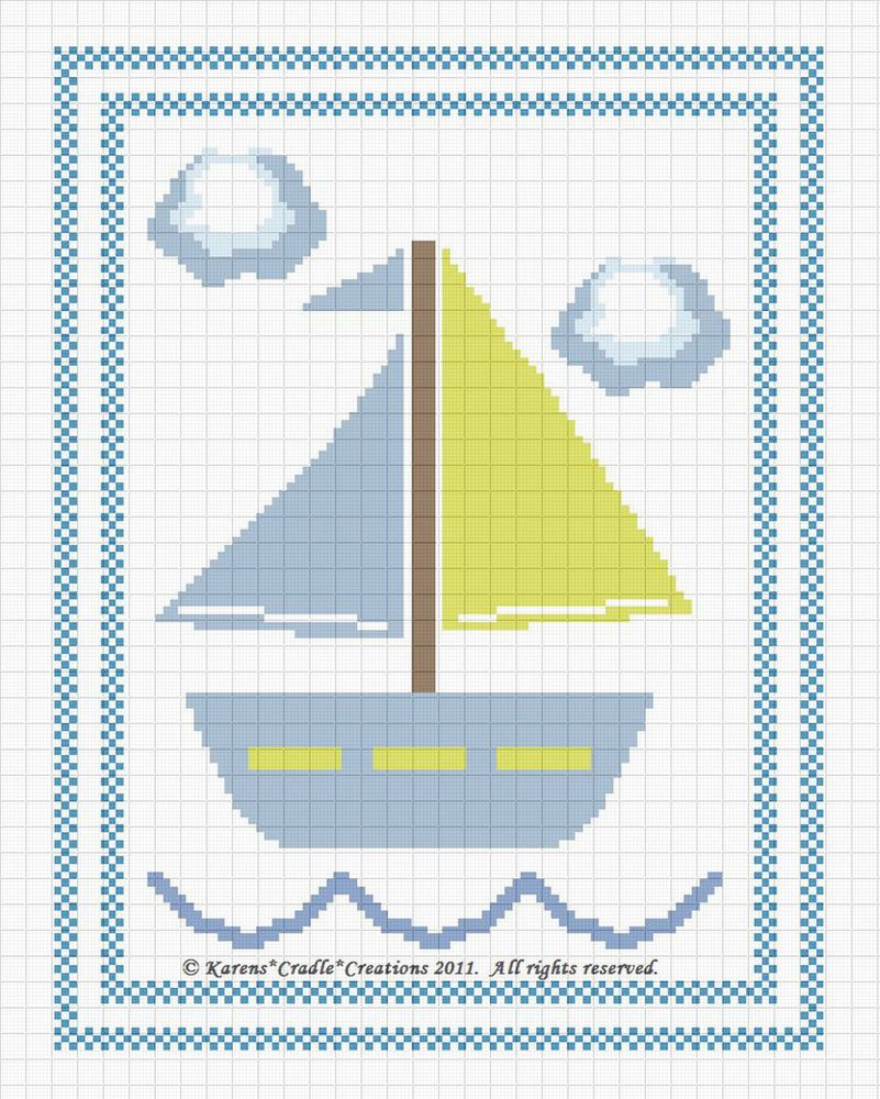 Sailboat baby nautical counted cross stitch pattern chart easy sailboat baby nautical counted cross stitch pattern chart easy bankloansurffo Gallery