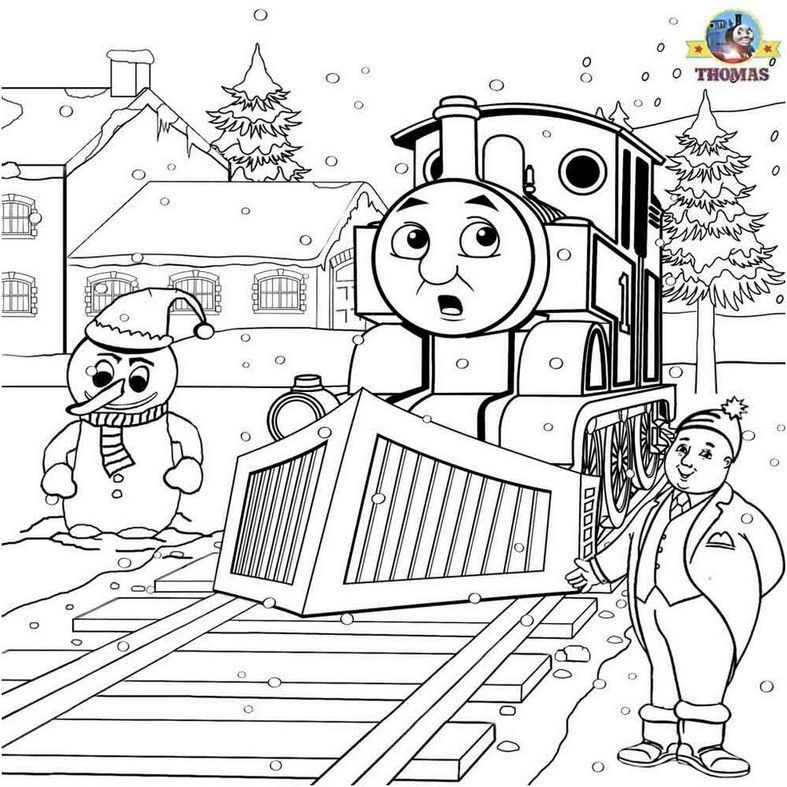 Coloring Page Thomas The Train Printable Dengan Gambar Kartun