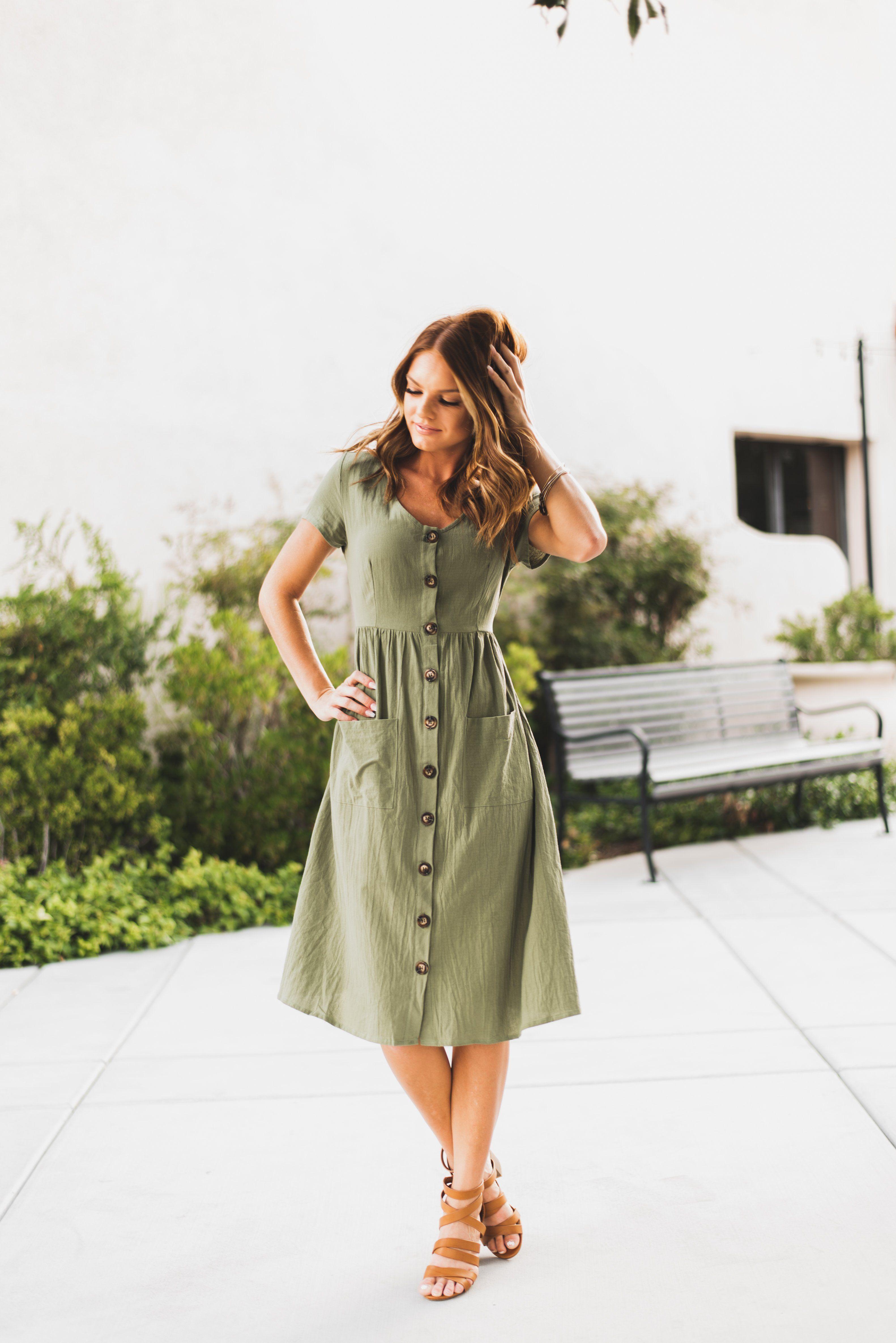 23++ Button down dress information