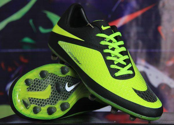 Sepatu Bola Nike Hypervenom Black Green Kw Super Rp 180rb Bb