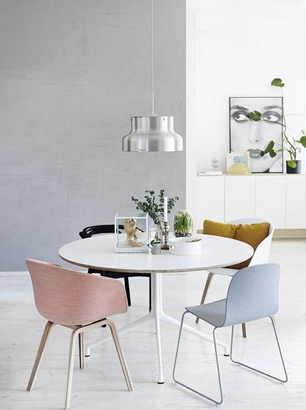 Elegant Skandinavische Möbel Runde Esstische Esszimmertische Mit Stühlen