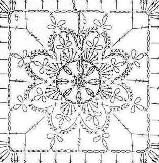 flor en cuadrado....nice schema for flower motif...no written pattern..