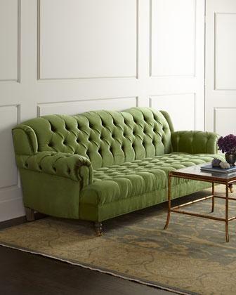 Green Tufted Sofa Sofa Design