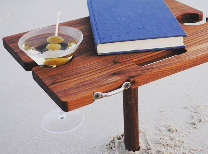 Mini Portable Beach Table Awesome Stuff 365 Beach Table Table