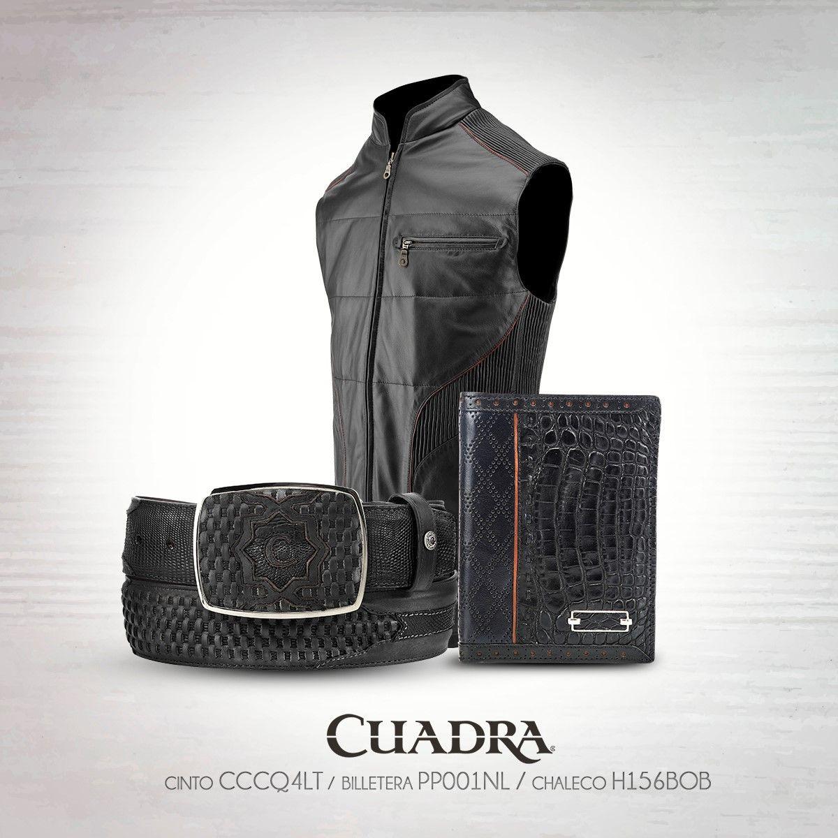 El negro caracteriza a las personas elegantes y misteriosas.  CUADRA  Cintos   Chaleco  Billetera  Exotic  Leather  Black 240496ed07e67