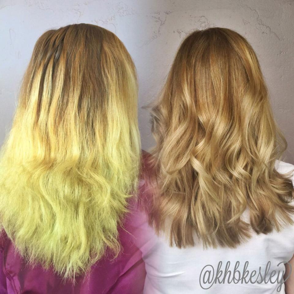 Color Correction From Chlorine Damaged To Balayaged Blonde Hair