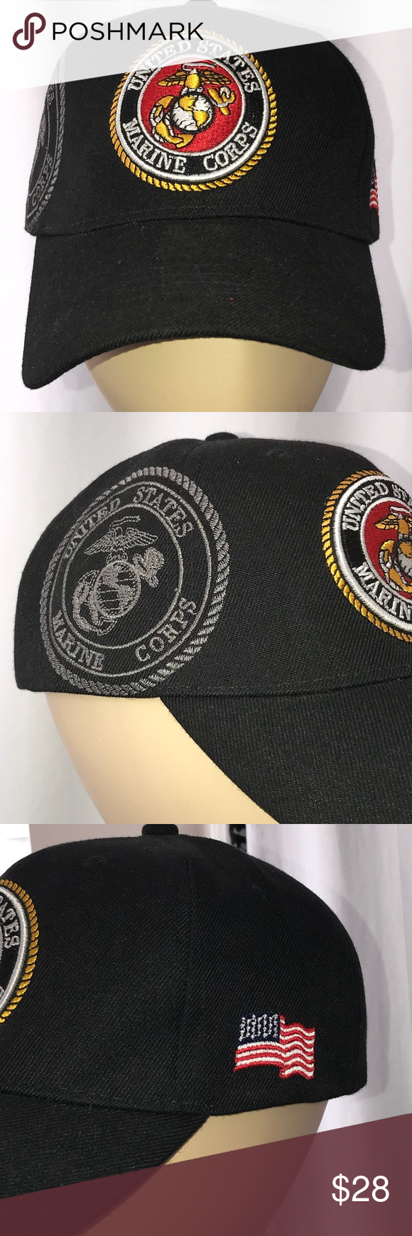 71d10a5c99e USMC embroidered hat cap cover in 2018