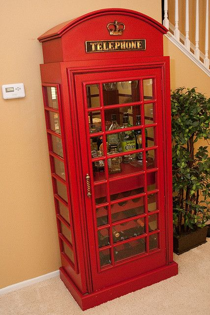 Telephone Booth Wine Rack For The Home
