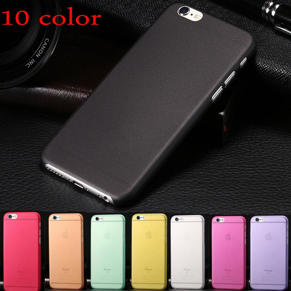 1 Unids Back Case Para Iphone 7 Plus 6 S Motomo Xiaomi Mi 4i Hardcase Color Mate Transparente Ultra Delgado 03mm Pc Cubierta Protectora De La Piel Shell