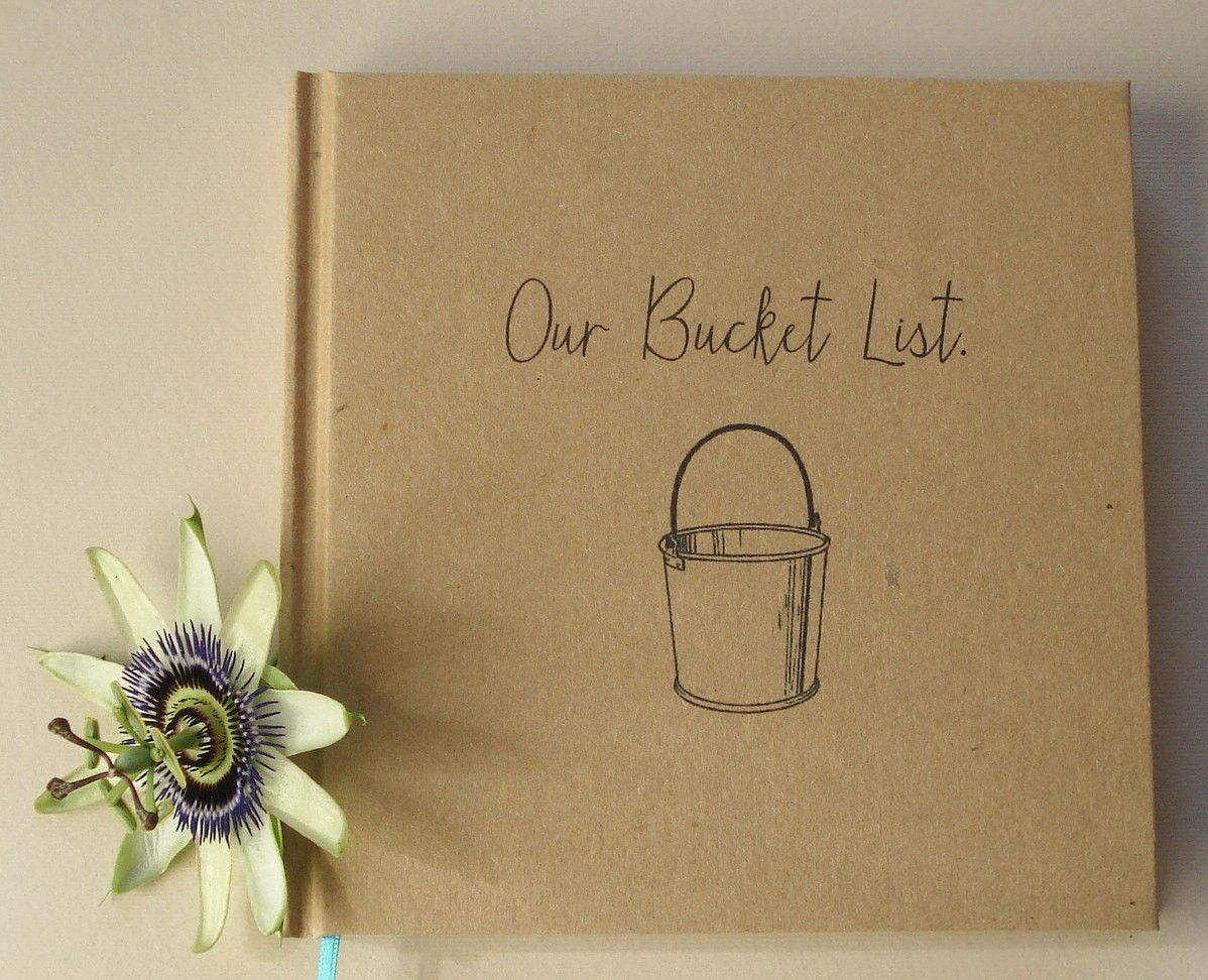 Our bucket list journal · paper anniversary gift diary · wedding