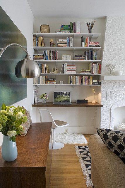 Créer Un Bureau/Atelier Dans Un Petit Espace | Mini Bureau, Bureau