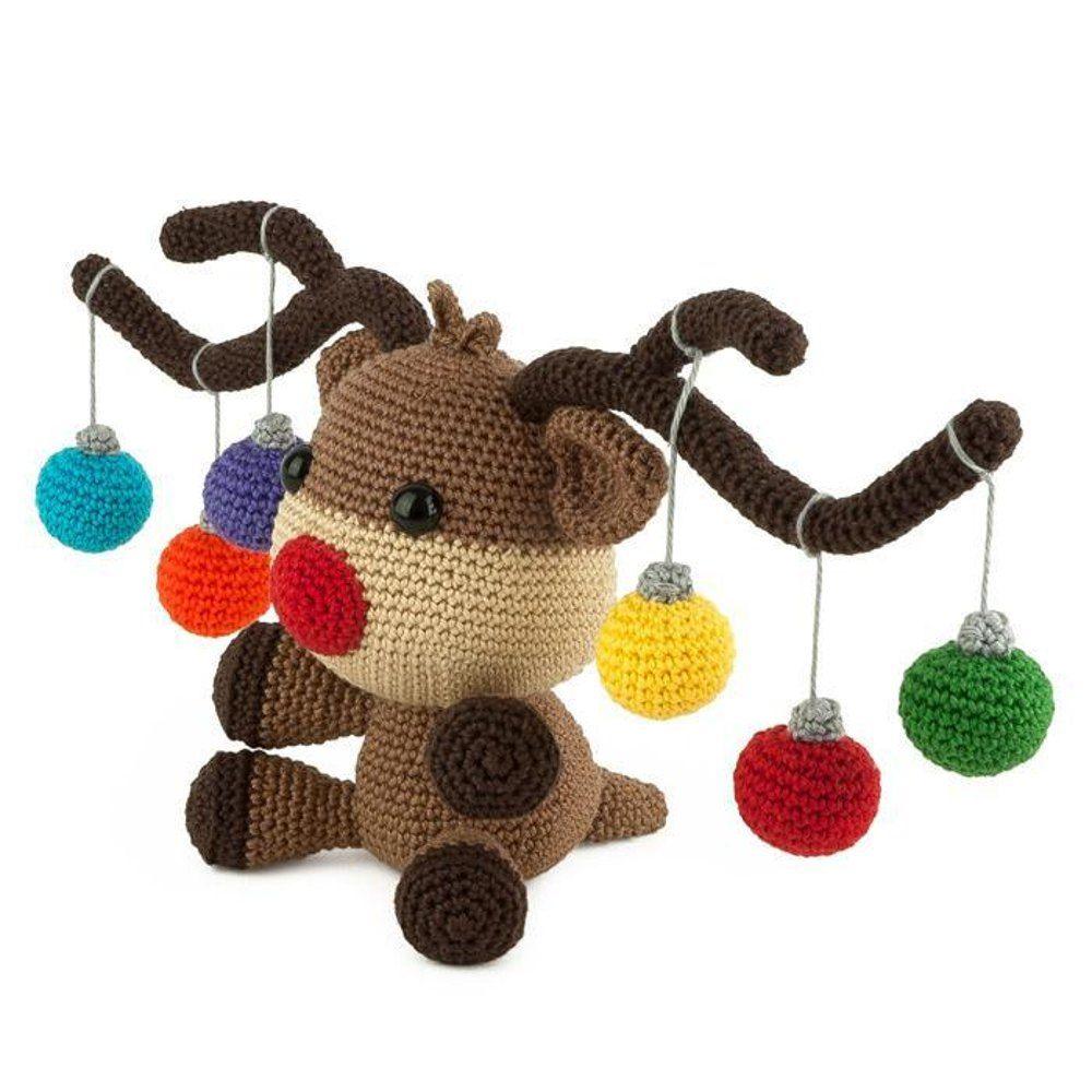 Christmoose Amigurumi Crochet pattern by Sabrina Somers #hækletjul
