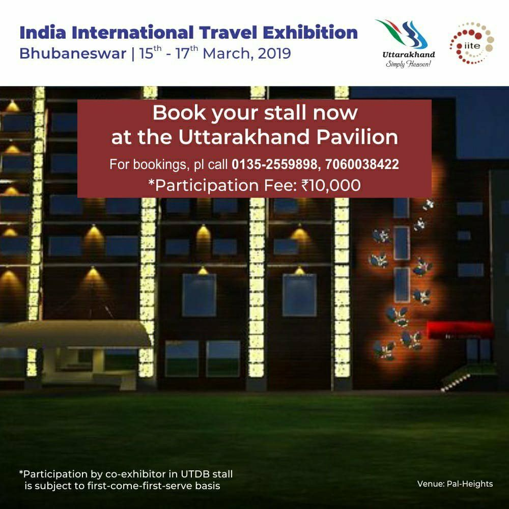 Co-exhibitors are invited to book their space at Uttarakhand